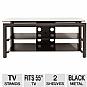 "Alternate view 1 for Cravin TDLBH44 44"" Metal and Glass TV Stand"