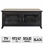 Alternate view 1 for Cravin TDLAP5022B Black finish TV Credenza