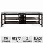 Alternate view 1 for Cravin TDLBH60 60&quot; Metal Glass TV Stand 
