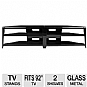 "Cravin TDECB82 2 Shelf TV Stand - Fits up to 92"" TVs, Glass, 82in wide"