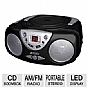 Alternate view 1 for Jensen CD-472-BK Portable Stereo CD Boom Box AM/FM
