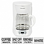 Black & Decker DLX1050W 12-Cup Programmable Coffee Maker - Glass Carafe, QuickTouch Programming, Easy-Clean Surface, White