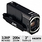 Alternate view 1 for JVC GZ-V500BU Full HD Memory Camcorder