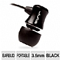 Jlab JB-Exec-BLK Exec Earbuds - 8mm Drivers, 3.5mm Stereo Gold Plated Plug, Aluminum Housing, Black