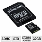 Alternate view 1 for Kingston 32GB microSDHC Class 4 Flash Card