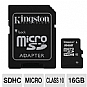 Alternate view 1 for Kingston 16GB Class 10 microSDHC Card w/ Adapter