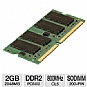 Alternate view 1 for Kingston 2048MB PC6400 DDR2 SODIMM Laptop Memory