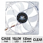 Kingwin CFY-012LB Advanced Series 120mm Yellow LED Case Fan - Long Life Bearing, 950 RPM, 3 Pin /4 Pin Connector