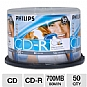 Alternate view 1 for PHILIPS 50PK Printable 52X CDR