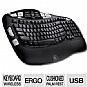 Logitech Cordless Keyboard K350 - Comfort Wave Design, cushioned palm rest