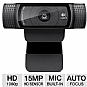 Logitech 960-000764 C920 HD Pro Webcam - USB, up to 15 Megapixel Snapshots, 1080p Video Recording, Built-in Dual Stereo Microphone, Autofocus, Universal Clip