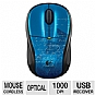 Logitech 910-002462 M305 Wireless Mouse - 2.4 GHz, Optical Tracking, Ergonomically Designed, Nano Receiver, Intelligent Battery Management, Blue