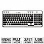 Alternate view 1 for Logitech K360 Wireless Keyboard - 920-003365