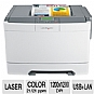 Lexmark C540n Color Laser Printer - Network Ready - 21 ppm Color & Black, 1200 x 1200 dpi, USB, 417 MHz, 128 MB