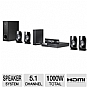 LG BH6820SW 3D Blu-ray Home Theater System - 5.1 Channel, 1000 Watts Total, HDMI, Built-in WiFi, 3D Ready, Wireless Rear Speakers, Black