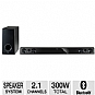 LG NB3520A Sound Bar Speaker System - Includes Wireless Subwoofer, 2.1 Channel, 300 Watts Total, Bluetooth, 2 Optical Inputs, USB, Remote (Refurbished)