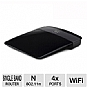 Linksys E1200 Wireless-N Router - up to 300 Mbps, 4x Ports, Wireless-N, Recertified