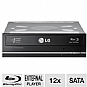 LG 12X Internal Blu-Ray/DVDRW Combo Drive - SATA Interface, 16x DVD-R, 48x CD-R, Light Scribe Label Creation, Black (CH12LS28)