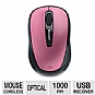 Microsoft GMF-00005 Wireless Mobile Mouse 3500 - USB 2.0, BlueTrack Technology, Plug-And-Go Nano Transceiver, 2.4 GHz, 8-Month Battery Life, Pink