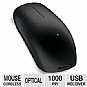 Microsoft 3KJ-00001 Wireless Touch Mouse - Plug-and-Go Nano Transceiver, 2.4 GHz, BlueTrack Technology, 1000 PPI, Programmable Button with Touch Sensor Surface, Black 