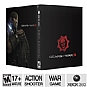 Microsoft Gears of War 3 Epic Edition Shooter Video Game - Xbox 360, Statue, Medal Replica, Bonus Multiplayer Character, Weapon Skin Pack, Fabric COG Flag & Momentos, ESRB: M (Mature) (Refurbished)
