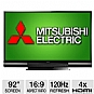 "Alternate view 1 for Mitsubishi WD-92840 92"" Class 3D DLP HDTV REFURB"