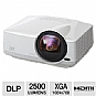 Mitsubishi EX320U-ST XGA Ultra Short-Throw DLP Projector - 2500 ANSI Lumens, 1024 x 768, 4:3, 3000:1, HDMI, VGA, USB, 3D Ready (Refurbished)