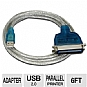 Sabrent SBT-UPPC USB 2.0 to Parallel Printer Adapter Cable - 6 ft, 36 pin Centronics, OEM