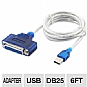 Alternate view 1 for Sabrent 6-Foot Adapter Printer Cable