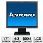 "Lenovo 9227AC1 17"" Class LCD Monitor - 1280 x 1024, 4:3, 500:1 Native, 8ms, VGA (Off-Lease)"