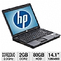 HP Compaq 6510b Notebook PC - Intel Core 2 Duo 2.0GHz, 2GB DDR2, 80GB HDD, Combo, 14.1&quot; WXGA, Windows 7 Home Premium (Off-Lease)