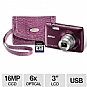 "Nikon Coolpix S4300 Digital Camera KIT - Includes Lexar 4GB SD Card and Case, 16 MegaPixels, 1/2.3"" CCD Sensor, 3"" LCD, 6x Optical, 4x Digital, 74MB Internal, USB, Purple"