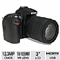 Alternate view 1 for Nikon D90 25448 12.3 Megapixel DSLR with 18-105mm 