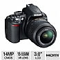 Nikon D3100 14MP Digital SLR Camera Bundle