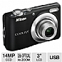 Alternate view 1 for Nikon Coolpix L24 Black 14MP Digital Camera