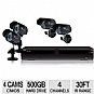 Alternate view 1 for Night Owl O-445 4 Ch, D1, 4 Cam Security System