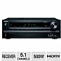 Onkyo TX-SR313 Home Theater Receiver - 5.1 Channel, 500 Watts Total, 5 HDMI, Optical, iPod/iPhone Combatible, USB