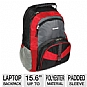 "Samsill 39315 Microsoft Laptop Backpack Contender - Fits Up To 15.6"", Molded Plastic Carrying Handle, Storage for Laptop Accessories"