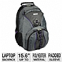 Samsill Microsoft Laptop Backpack Gray and Purple