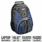 "Samsill 39320 Microsoft Laptop Backpack Queue -Fits Up To 15.6"", Molded Plastic Carrying Handle, Storage for Laptop Accessories, Blue"