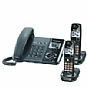 Panasonic KX-TG9392T Corded Phone System - 2-Lines, 2 Additional Cordless Handsets, Backlit Keypad, Caller ID, Metallic Black