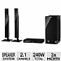 "Panasonic SC-HTB550 Home Theater Soundbar Speaker System - 2.1 Channel, 240 Watts Total, HDMI, Optical, 6.5"" Subwoofer (Refurbished)"