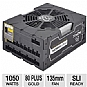 Alternate view 1 for XFX ProSeries 1050W Black Ed. Modular Power Supply