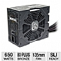 Alternate view 1 for XFX 650W 80 Plus Bronze Core Edition PSU
