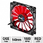 Alternate view 1 for AeroCool 140mm Devil Red Edition LED Case Fan