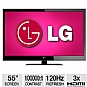 "Alternate view 1 for LG 55LV4400 55"" 1080p 120Hz  LED HDTV"