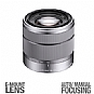 Sony SEL1855 Interchangeable Alpha E-mount Lens - For Sony Alpha NEX Cameras, 18-55mm, F3.5-5.6 OSS (Refurbished)