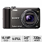 "SONY H70 DSCH70/B Cyber-shot Digital Camera - 16 MegaPixels, 10X Optical Zoom, 3"" LCD, CCD Sensor, 30 fps, USB, HDMI, Black (Refurbished)"