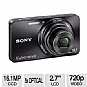 Alternate view 1 for Sony W570 Cyber-shot Black 16.1 MP Digital  REFURB