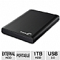 Seagate Backup Plus STBU1000100 1TB Portable Drive - USB 3.0, Black